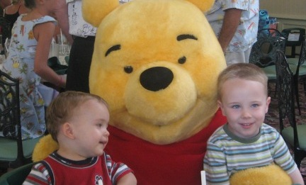 Disney World Magic Kingdom Crystal Palace with Pooh Bear