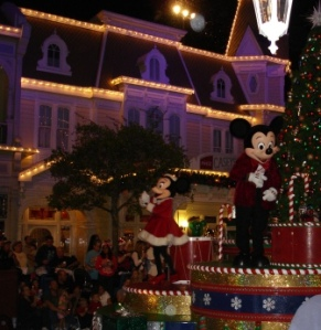 Mickey and Minnie Christmas Parade