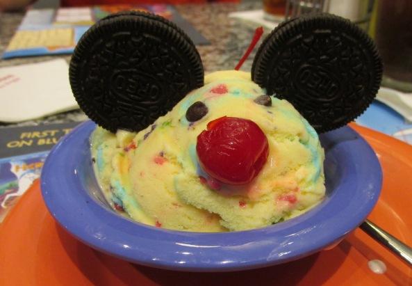 Disney World Mickey Mouse Sundae
