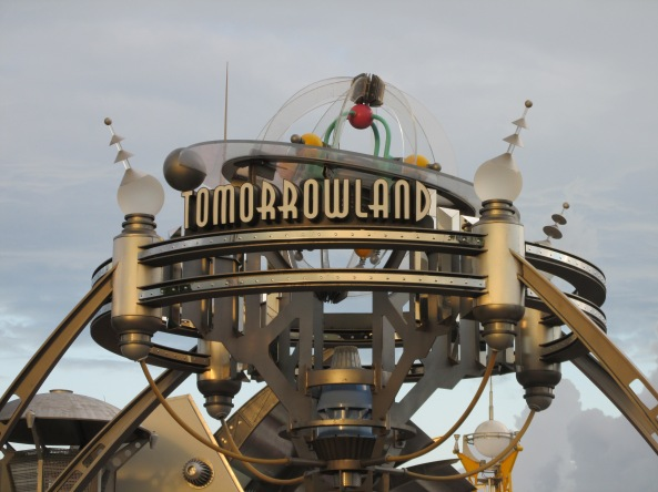Disney World Tomorrowland Sign