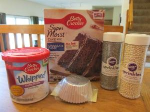 Disney Frozen Cupcake Ingredients