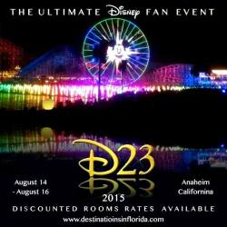 D23 Expo 2015 Discounted Rooms