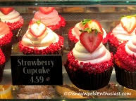 Disney World Strawberry Cupcake