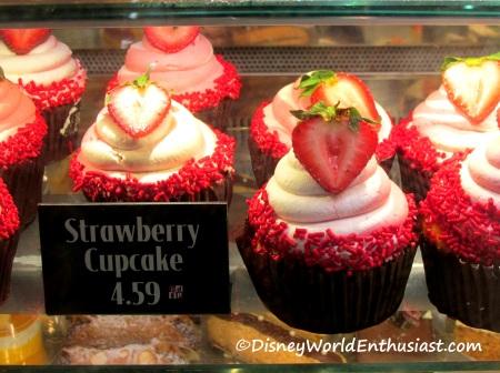Disney World Strawberry Cupcake