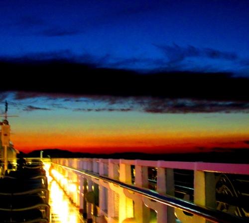 Disney Alaska Cruise Sunset