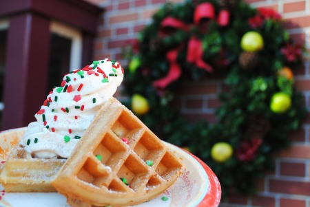 Waffle Holiday Sundae