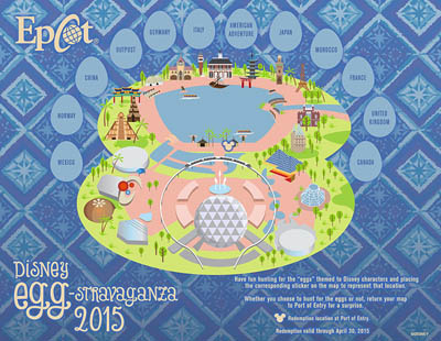 Epcot Egg Hunt Map