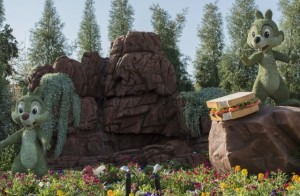 Chip and Dale Topiaries